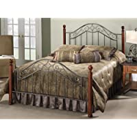 Hillsdale Furniture 1392BK Martino Bed Set, King, Smoke Silver