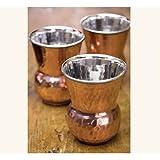 Napa Style Hand Pounded Bottega Copper Tumbler - Four Tumblers