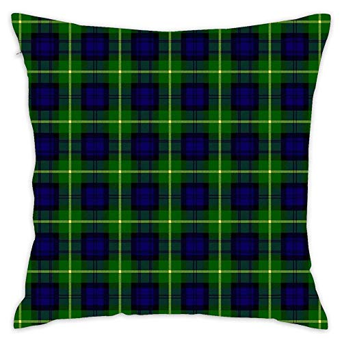 NEWcolor Throw Pillow Cover Spring Fashion Cushion Cover for Couch Clan Gordon Tartan