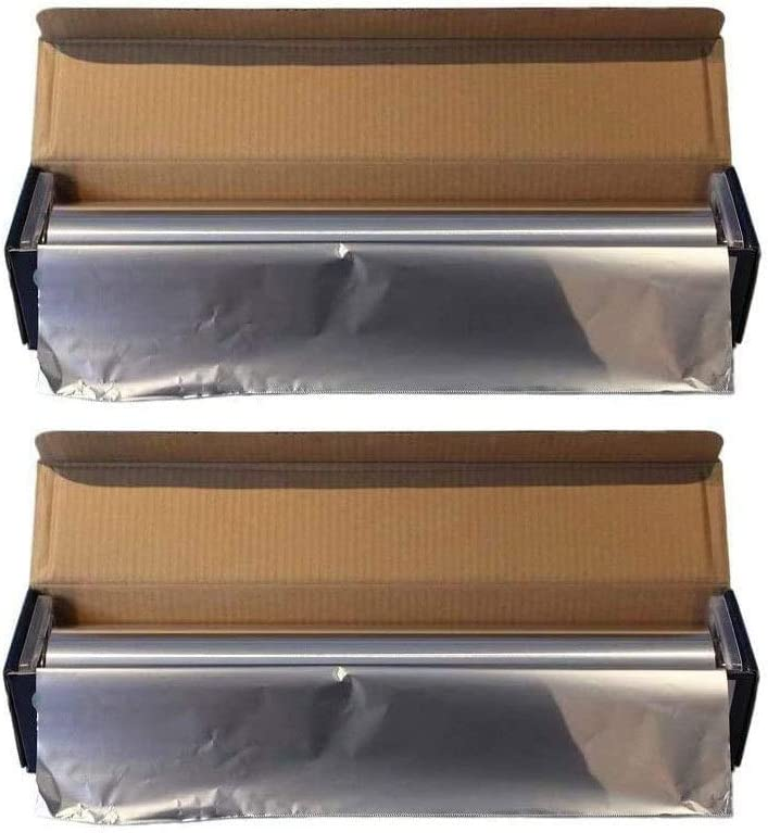 Heavy Duty Aluminum Foil, 18 Inches X 500 Feet, Commercial Industry Grade, Food Service, Wrap, Bulk Thick Super Heavy Duty Roll (2-Pack)