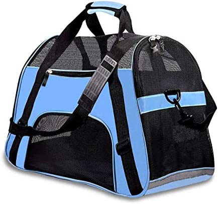 PPOGOO Large Pet Travel Carriers 20.9×10.2×12.6 22lb(10KG) Soft Sided Portable Bags Dogs Cats Airline Approved Dog Carrier,Upgraded Version