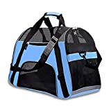 PPOGOO Large Pet Travel Carriers 20.9x10.2x12.6 22lb(10KG) Soft Sided Portable Bags Dogs Cats Airline Approved Dog Carrier - Upgraded Version