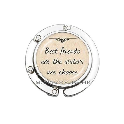 Gancho para monedero con cita de «Best Friends are The ...