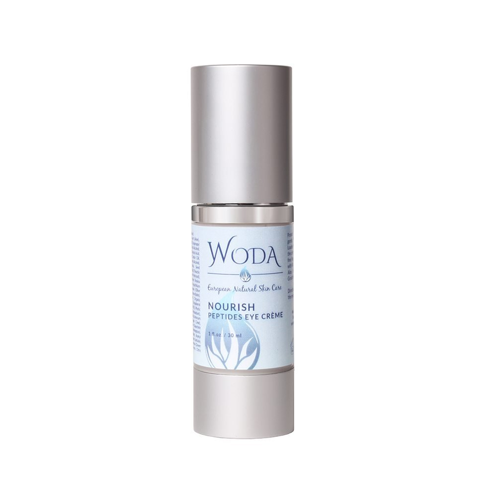 ! WODA Nourish: Peptides Eye Crème - Anti-Aging & Anti-Wrinkle Eye Cream - Reduce Fine Lines & Boosts Collagen Production - All Natural Ingredients with Matrixyl 3000 & More - 1oz