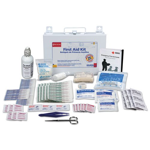 First Aid Kit for 25 People, 106-Pieces, OSHA Compliant, Metal Case, Sold as 1 Kit
