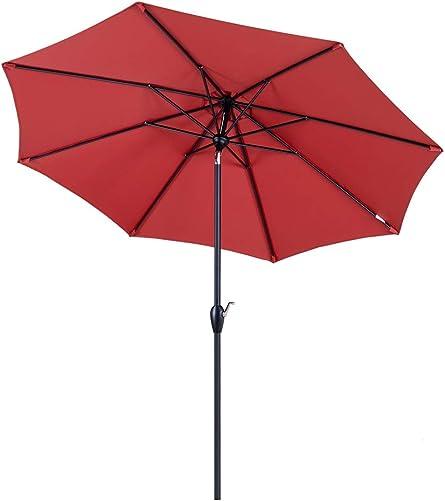 Tempera 9ft Auto-Tilt Patio Umbrella Outdoor Garden Table Umbrella