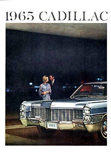 A FULL COLOR 1965 CADILLAC DEALERSHIP SALES BROCHURE Shows Fleetwood, Coupe DeVille, Sedan DeVille, Eldorado, 60 Special, Calais - ADVERTISEMENT - CATALOG