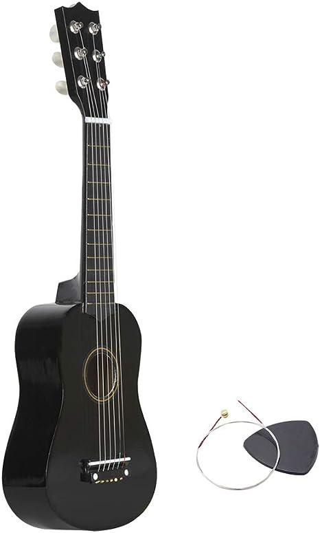 Guitarra Pequeña Durable Portátil de Madera Tamaño Pequeño 23 ...