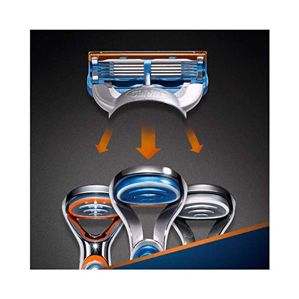 Gillette Fusion 5 Lamette di Ricambio per Rasoio, Confezione da 11 Testine + Manico Gratis 4 spesavip