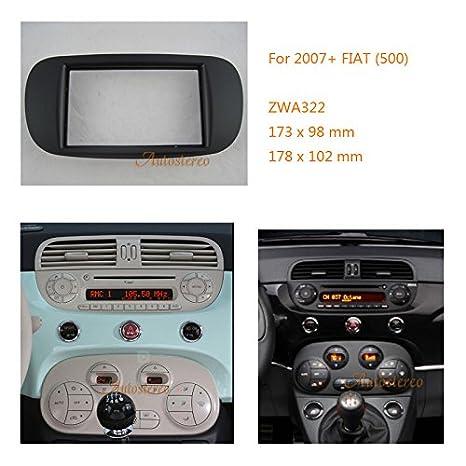 Wonderlijk ZWNAV Car Audio Radio Mounting Frame Fascia Panel for FIAT (500 JM-05