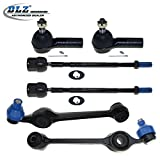 DLZ 6 Pcs Front Suspension Kit-2 Lower Control Arm & Ball Joint Assembly, 2 Inner 2 Outer Tie Rod End for 1984-1990 Ford Escort/Ford Tempo/Mercury Topaz, 1984-1988 Ford EXP, 1984-1987 Mercury Lynx