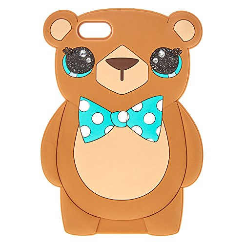 Claire's Girl's Mint Bow Bear Phone Case