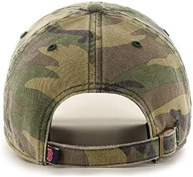 47 Brand Boston Red Sox Clean Up Hat Cap Garment Washed Camo//Red