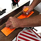Fulton Safety Woodworking Push Block and Push Stick Package 5 Piece Set In Safety Orange Color, Ideal for Woodworkers and Use On Table Saws, Router Tables, Jointers and Band Saws