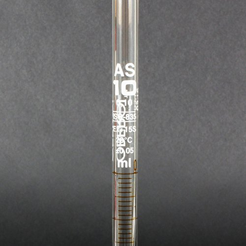 Graduated Pipette, Borosilicate 3.3 Glass, 10 mL, Class AS, Pack of 5 by Oberoi Laborglas