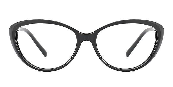 c0ed99f3af TIJN Vintage Cateye Eyeglasses Full Rim Optical Glasses For Women Clear Lens