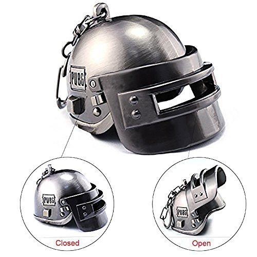 Focux PUBG Playerunknown's Battlegrounds Level 3 Helmet KeyChain Helmet Accessories PUBG Keychain Charm Souvenir Gifts PUBG Logo (Large Helmet)