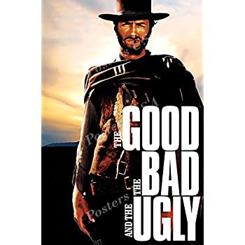 amazoncom the good the bad and the ugly poster vintage