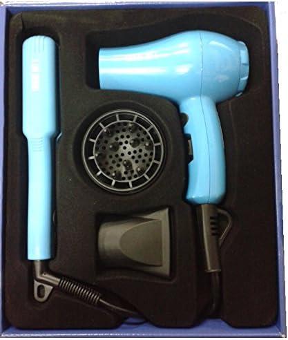 Mini travel kit. Plancha y secador de viaje Azul: Amazon.es: Belleza