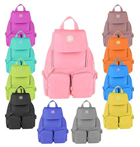 OBC Ital-design Damen Rucksack Handgepäck Schultertasche Kinderrucksack Rucksack Freizeit Shopper Tasche BackPack Tablet/Netbook bis ca. 10-13 Zoll (Rosa (28x39x12 cm))