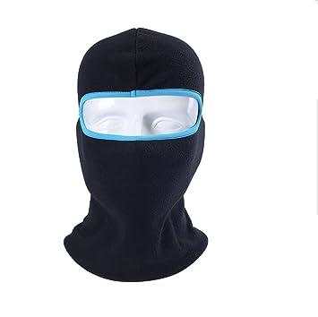 Winter Thick Balaclava Máscara Calentador de cuello a prueba de viento para esquiar Ciclismo transpirable Azul