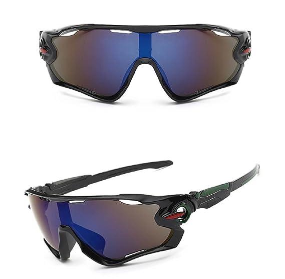 Lunettes de soleil lunettes de Ride Elyseesen Lunettes de soleil UV400 Lens équitation lunettes de lunettes sports de plein air mountain bike (noir) mYeJKGx