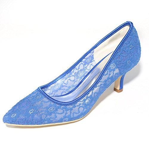 Punta Satinado Mujer Fiesta De Otoño Prom Pie Primavera Seda Dedo L Blue La Boda yc Verano Tacones Del Noche Y EvwZqWWRxY