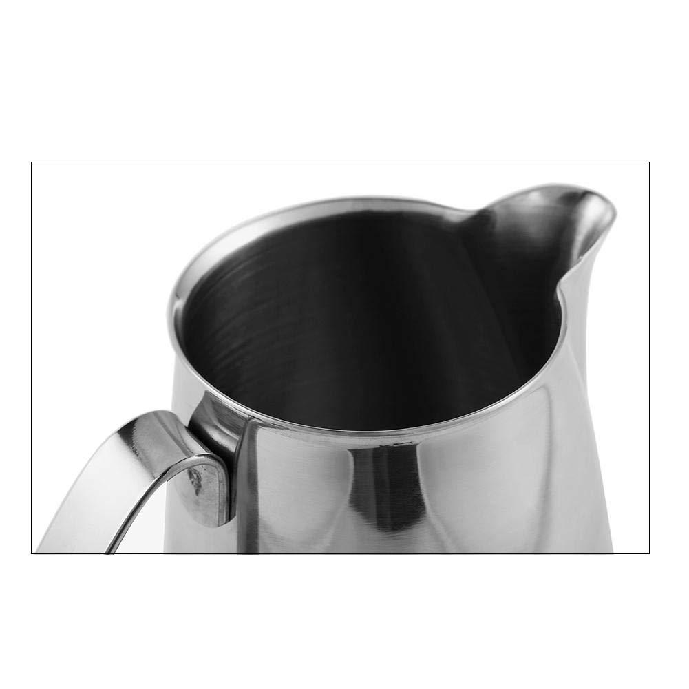 Amazon.com: Jarra de Leche Jarra de Leche para Espuma Acero Inoxidable, Taza de Leche de Café, Taza de Leche, Taza de Extracción, Taza de Café 500ml: ...
