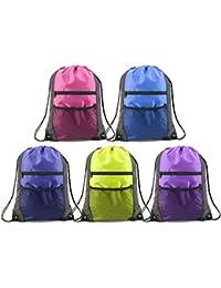 2106825dd2 Unisex Drawstring Backpacks Bags Bulk 5 Pack