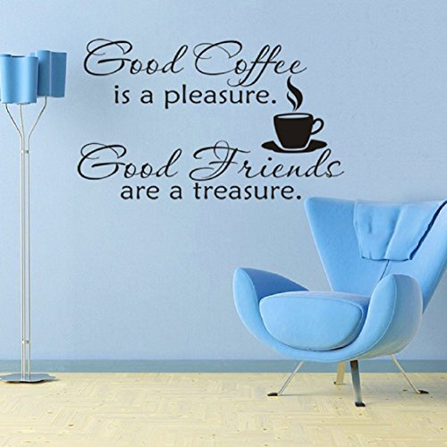 Wall Stickers ,Ikevan Good Coffee Cups Kitchen Wall Sticker Quotes Decal Art Cafe Art Home Mural