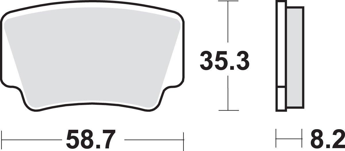 SBS 674HS Brake Pad