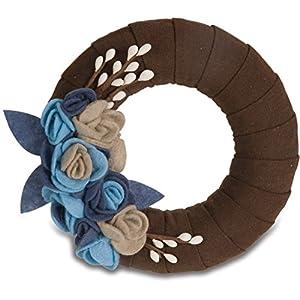 "Pavilion- Brown Colored 6"" Blue Floral Decorative Wreath Grandma Gift 49"