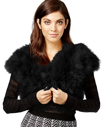 Inc International Concepts Marabou Bolero Shrug