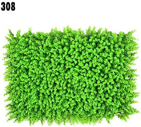 人工芝、模擬ユーカリ植物壁、リフォーム/バルコニー/フェンス/庭用60 * 40 cm,1piece