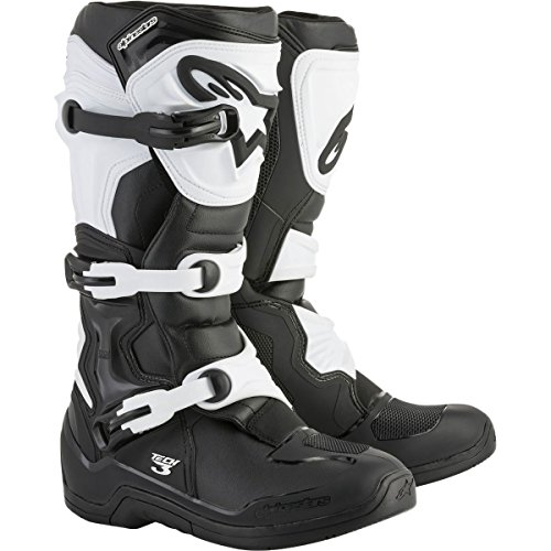 Alpinestars Tech 3 Boots-Black/White-10