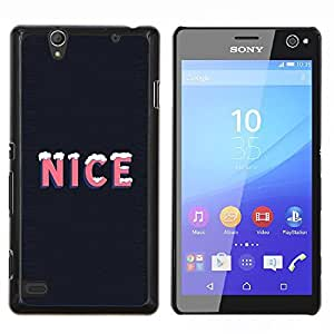 Queen Pattern - FOR Sony Xperia C4 - nice ice quote snow winter season life positive - Cubierta del caso de impacto con el patr???¡¯???€????€???&Acir