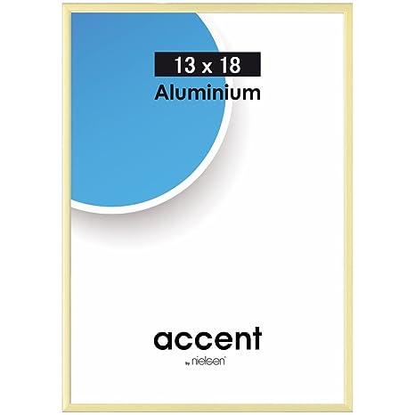 Nielsen C2 Bilderrahmen Format DIN A4 schwarz Aluminium Fotorahmen Wandrahmen