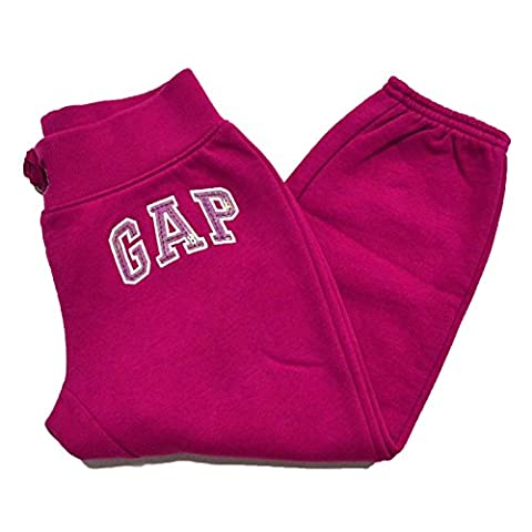 Gap Girls Arch Logo Fleece Sweatpants Cropped (M, Fuchsia) - Gap Girls Jacket