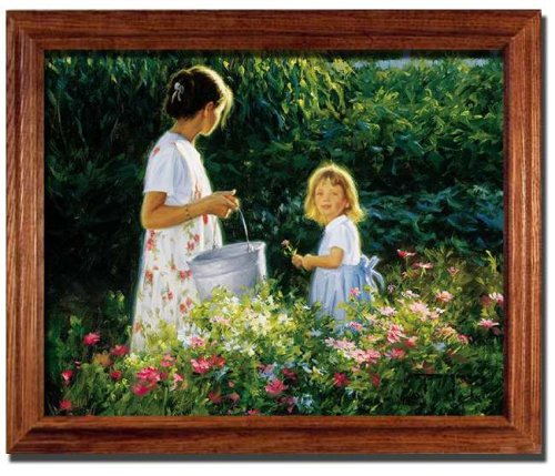 Little Miss Sunshine Garden Robert Duncan Framed Print