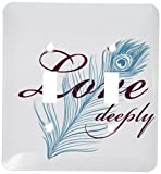 3dRose  lsp_79140_2 Love Deeply with Pretty Peacock Feather Double Toggle Switch