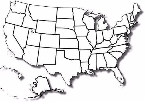 Blank Us Map With States Amazon.com: ConversationPrints Blank United States MAP Poster