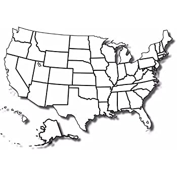 Amazon.com: BLANK UNITED STATES MAP GLOSSY POSTER PICTURE PHOTO