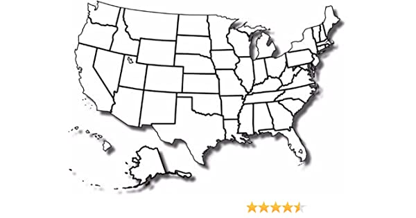 Empty Map Of The United States Amazon.com: ConversationPrints Blank United States MAP Poster