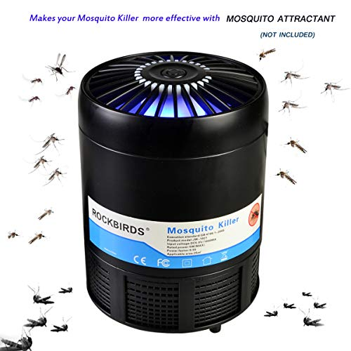 RockBirds Mosquito Killer, USB Powered Mosquito Trap Lamp UV LED Bug Zapper Effective Indoor Trap for Kids Baby (1 Pack)