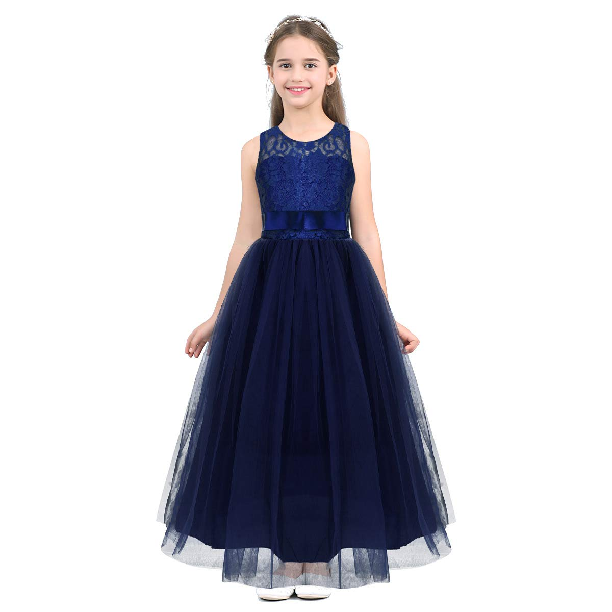 Long Navy Blue Party Dresses for Juniors