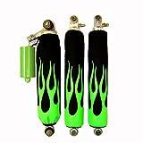 Green Flame Shock Covers POLARIS Trailblazer 95/99