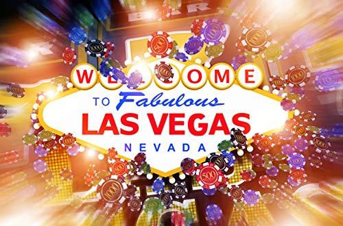 KSZUT 7x5ft Welcome Las Vegas Photography Backdrop Party Game Video Studio Photo Background Props -
