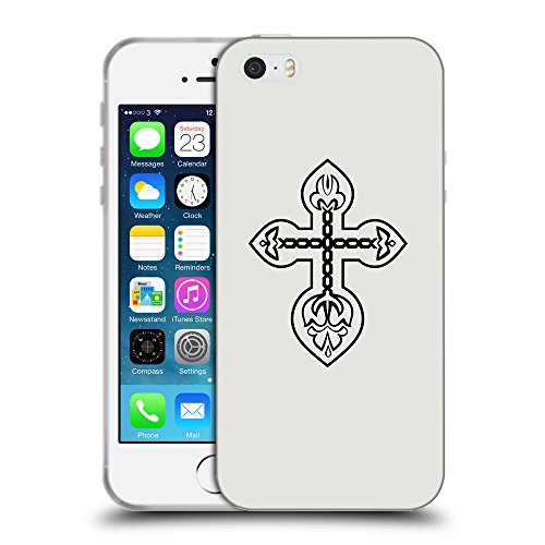 GoGoMobile Coque de Protection TPU Silicone Case pour // Q07790631 Christian Cross 4 Platine // Apple iPhone 5 5S 5G SE
