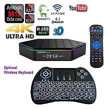 APTC Octa Core T95Z Plus Android 7.1 1080p 4K 3D Amlogic S912 Dual Wifi 5G Bluetooth 4.1 Internet Streaming TV Media Set Top Box+Backlit Wireless Keyboard Bundle