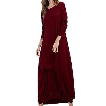 Vestidos Mujer Casual, 💕 Zolimx Mujeres de Manga Larga Sueltas Ropa de Boho Baratos Vestido